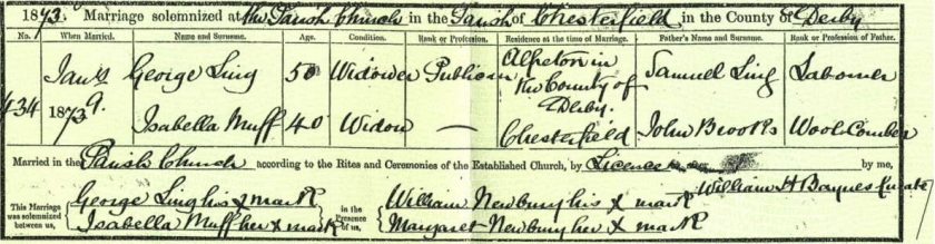 Ling-Muff marriage certificate